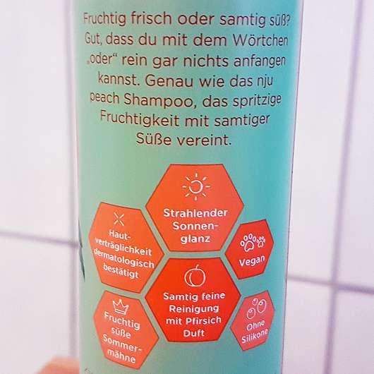 nju by xLaeta refresh with nju peach Shampoo (LE) - Details auf der Flasche