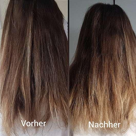 nju by xLaeta refresh with nju peach Shampoo (LE) - Haare vor und nach der Anwendung