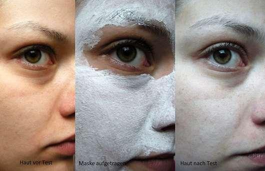 Origins Out Of Trouble 10 Minute Mask - Haut vor, während und nach der Anwendung