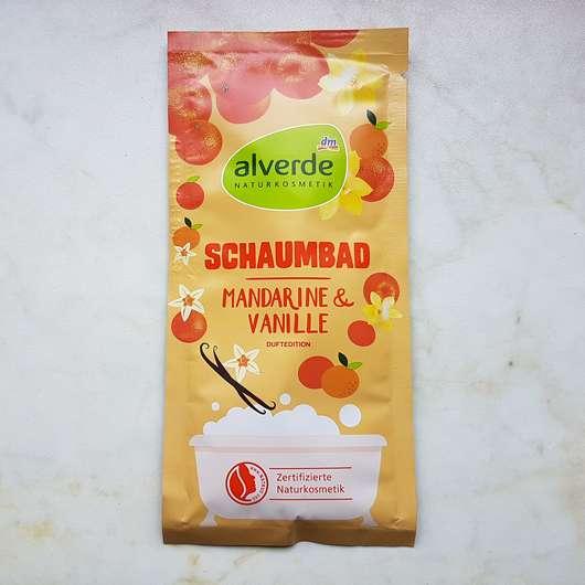 alverde Schaumbad Mandarine & Vanille