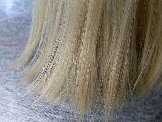 alverde Schaumfestiger Bio-Lotusblüte Bio-Violetter Reis - Haare vorher