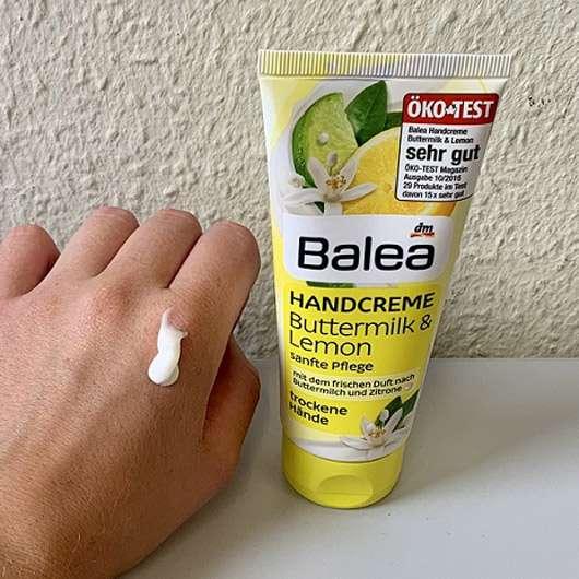 Balea Handcreme Buttermilk & Lemon - Konsistenz