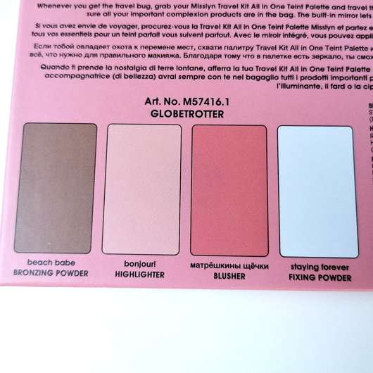 Misslyn Travel Kit All In One Teint Palette, Farbe: Globetrotter (LE)