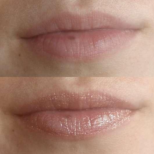oben: Lippen ohne Produkt // unten: Lippen mit Lip Icing