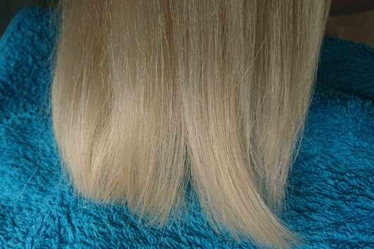 Haare nach Anwendung und Styling