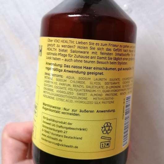 VIKI HEALTH Seidenproteinshampoo - Details