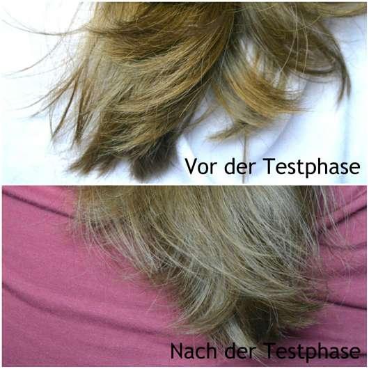Bübchen Happy Berry Shampoo & Spülung - Haare vor und nach der Testphase