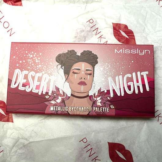 Misslyn Desert Night Metallic Eyeshadow Palette, Farbe: 02 Flaming Eyes (LE)