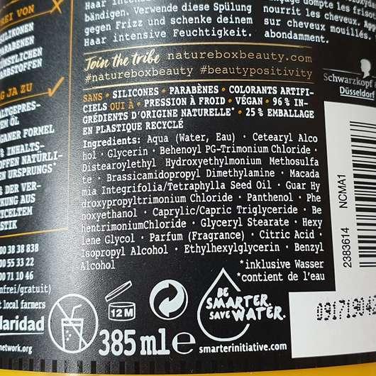 Nature Box Spülung Macadamia-Öl - Details