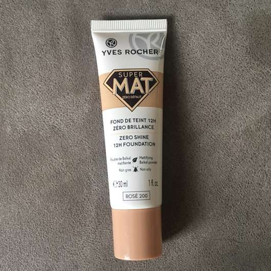 Yves Rocher Couleurs Nature Super Mat Zero Shine 12H Foundation, Farbe: Rosé 200