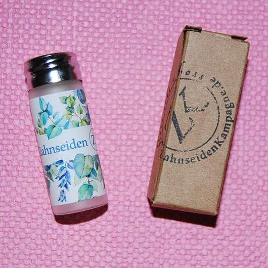 Zahnseidenkampagne PLA Premium Zahnseide mit Candelilla Wachs und Ingwer-Minz Aroma