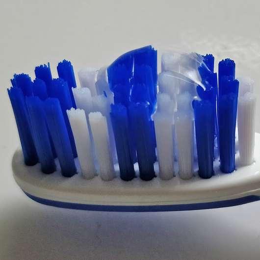 MARA EXPERT Fluorid Gelee Protector - Konsistenz auf der Zahnbürste