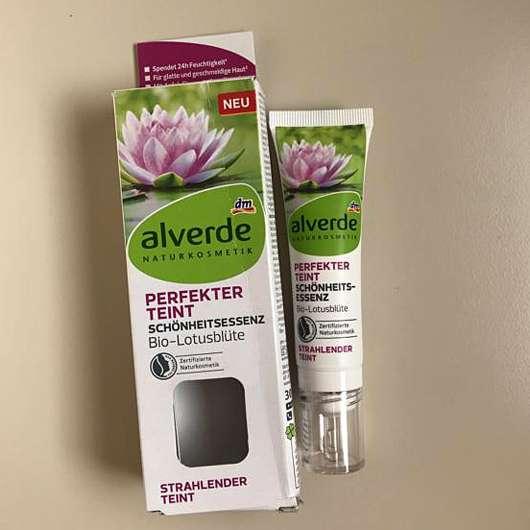 alverde Perfekter Teint Schönheitsessenz Bio-Lotusblüte