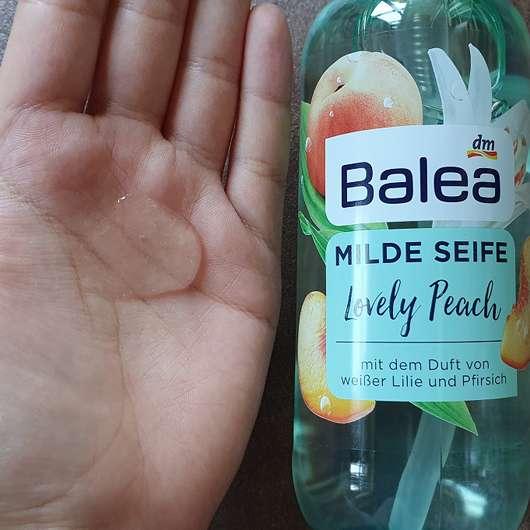 Balea Milde Seife Lovely Peach - Konsistenz