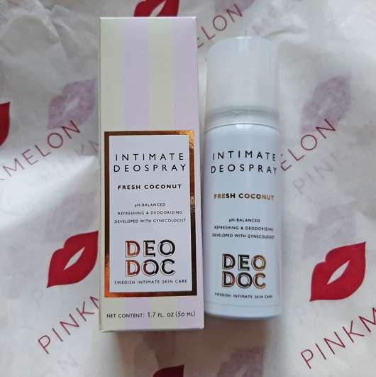DeoDoc Intimate Deodorant Spray Fresh Coconut