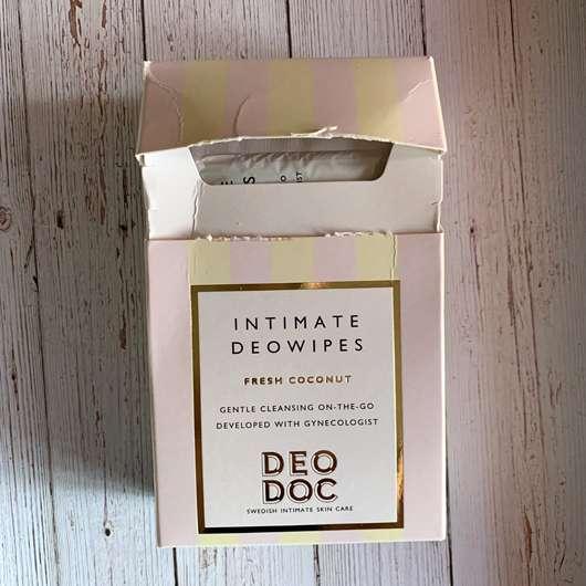 DeoDoc Intimate Deowipes Fresh Coconut