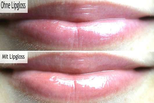 Lippen ohne/mit IsaDora Glossy Lip Treat Moisturizing Lip Color, Farbe: Ginger Glaze (LE)