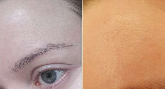 Haut zu Testbeginn (links) // nach 4-wöchigem Test der Skincerely Yours Do the dewy Cream (rechts)
