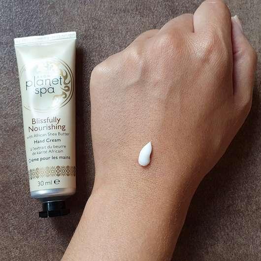 AVON planet spa Blissfully Nourishing Hand Cream - Konsistenz