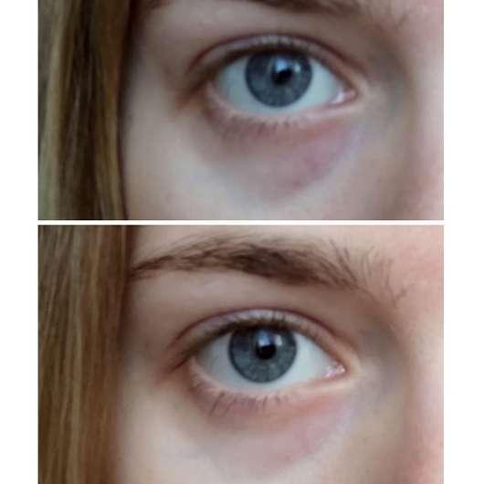 e.l.f. Hydrogel Under Eye Masks - Augenpartie vor und nach der Anwendung