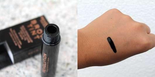Makeup Revolution Brow Tint, Farbe: Taupe - Flakonöffnung und Swatch