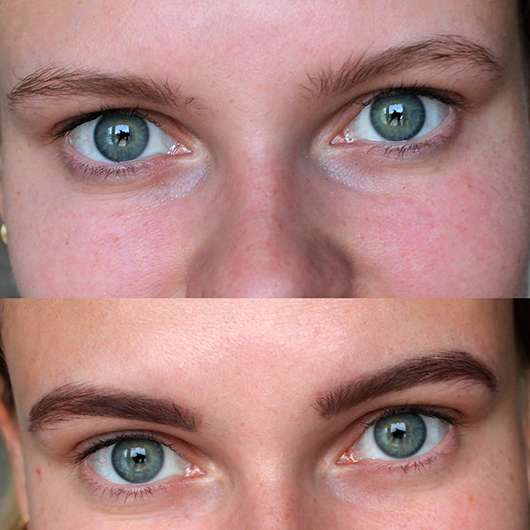 Makeup Revolution Brow Tint, Farbe: Taupe - Vorher / Nachher Effekt