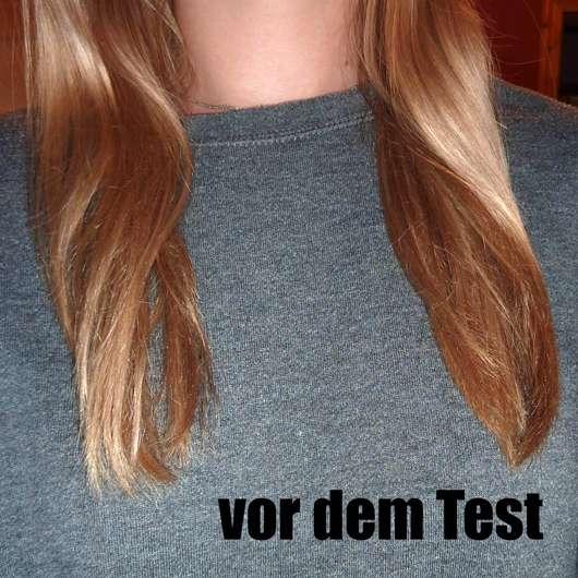 Yves Rocher Pflanzenpflege Haare Reparierendes Shampoo - Haare vor dem Test