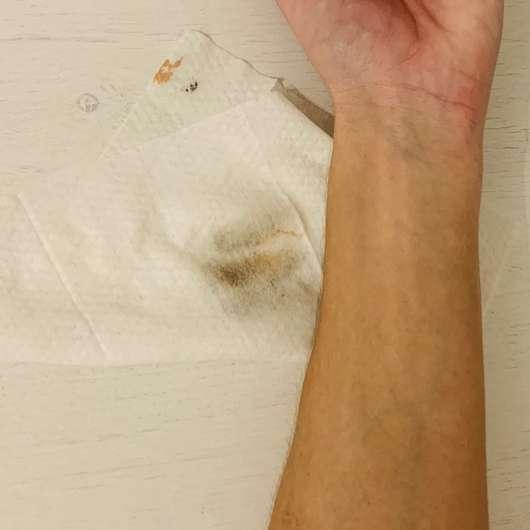 Balea Mizellen-Reinigungstücher - Reinigungsergebnis