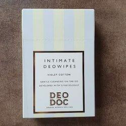 Produktbild zu DeoDoc Intimate Deowipes Violet Cotton
