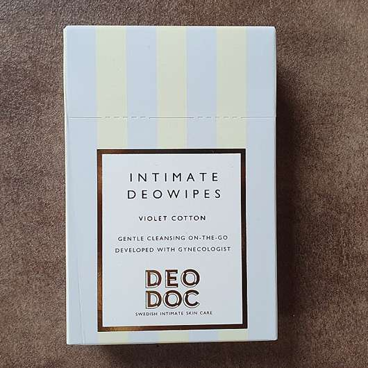 DeoDoc Intimate Deowipes Violet Cotton