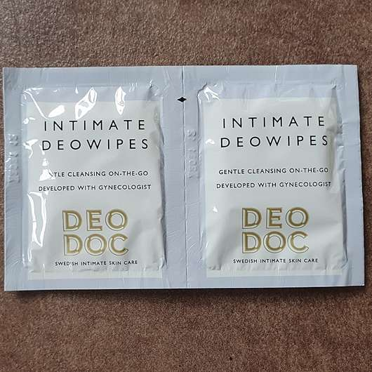 DeoDoc Intimate Deowipes Violet Cotton - Sachets