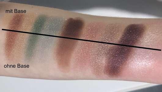essence crystal power eyeshadow palette - Swatches mit und ohne Base