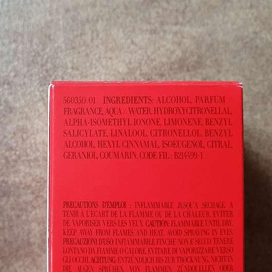 Giorgio Armani Si Passione Eau de Parfum - Rückseite Verpackung
