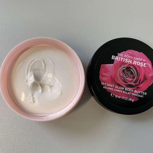 The Body Shop British Rose Instant Glow Body Butter - geöffnet