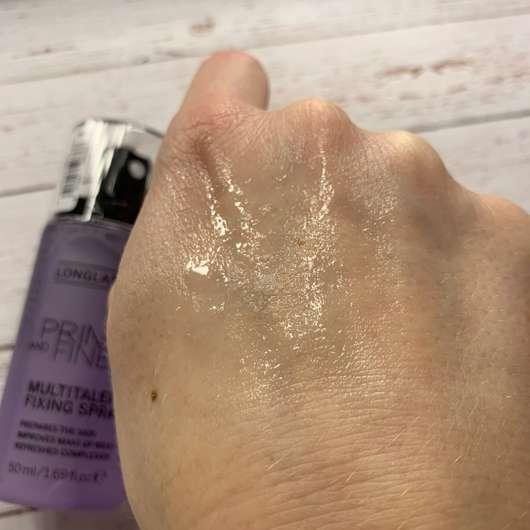 Catrice Prime And Fine Multitalent Fixing Spray - Konsistenz