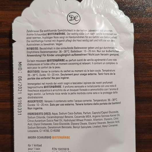 Dresdner Essenz Winterwärme Aroma-Schaumbad mit warm-fruchtigem Duft