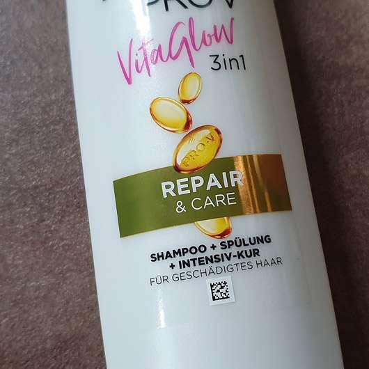 PANTENE PRO-V Vita Glow 3in1 Repair & Care Shampoo + Spülung + Kur