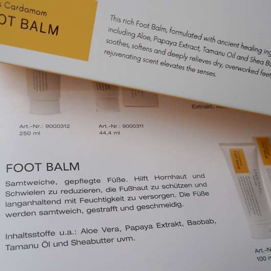 SpaRitual Citrus Cardamom Foot Balm