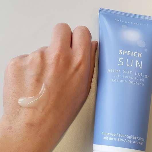 Speick Sun After Sun Lotion - Konsistenz auf dem Handrücken