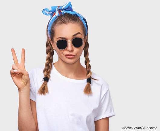 Mit diesem Make-Up Hack rutscht die Sonnenbrille nie mehr von der Nase!