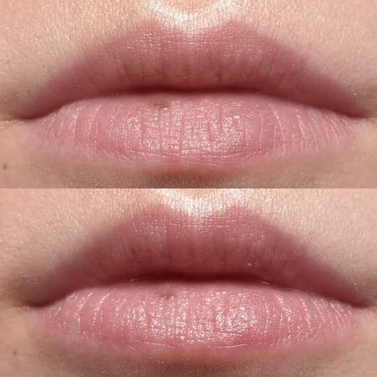 """Dionis Goat Milk Lip Balm """"Berry"""" - oben: Lippen ohne Produkt // unten: mit Lip Balm"""
