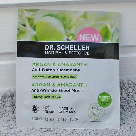 Dr. Scheller Argan & Amaranth Anti-Falten Tuchmaske