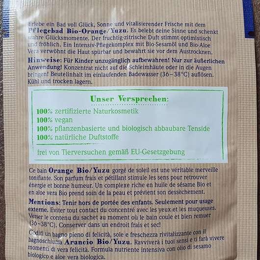 """Dresdner Essenz Naturell """"Du bist einfach großartig"""" Pflegebad"""