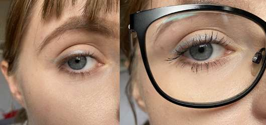Pixi Endless Silky Eye Pen, Farbe: Silver Reflex - normal als Eyeliner aufgetragen mit und ohne Brille