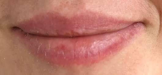 """Lippen vor dem Test des DIONIS Goat Milk Lip Balm """"Vanilla Bean"""""""