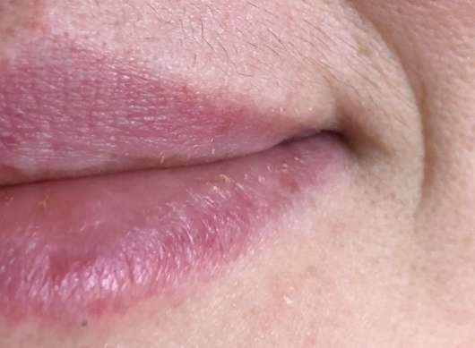 """Lippen mit aufgetragenem DIONIS Goat Milk Lip Balm """"Vanilla Bean"""""""