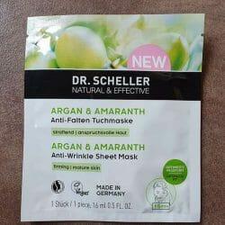 Produktbild zu DR. SCHELLER Argan & Amaranth Anti-Falten Tuchmaske