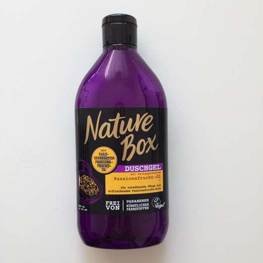 Nature Box Duschgel mit kaltgepresstem Passionsfrucht-Öl