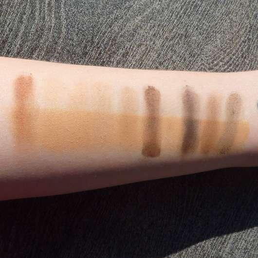 Swatches - Rival de Loop Nude Matt Eyeshadow Palette, Farbe: 01 Nude Matt
