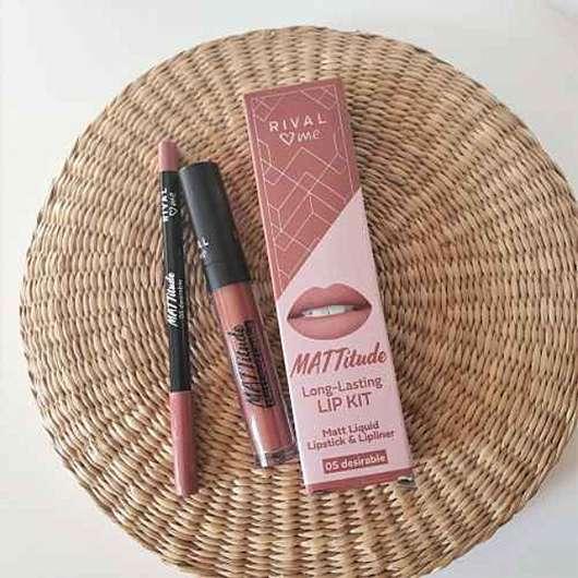 Rival loves me Mattitude Long-Lasting Lip Kit, Farbe: 05 desirable